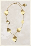 Delicate Gold Leaves Necklace
