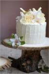 Romantic Rustic Wedding Cake