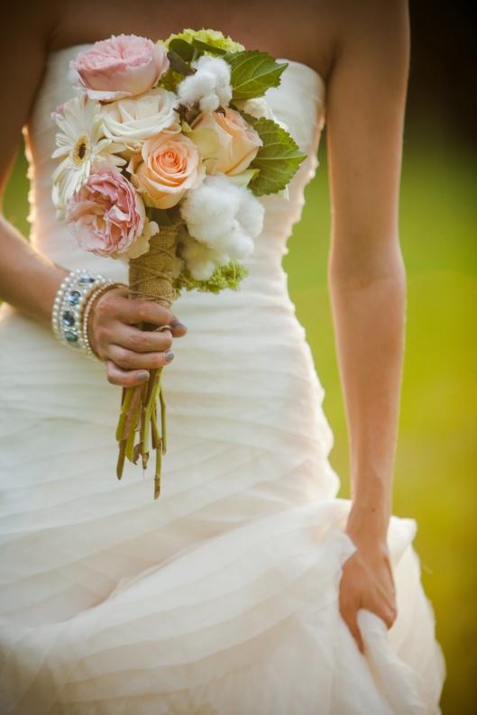 Bride's Bouquet with Cotton